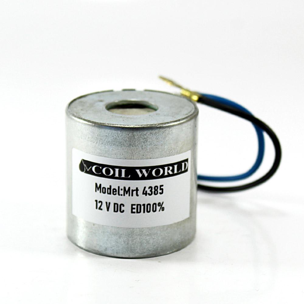 MRT 4385 12V DC Pnömatik Valf Bobini İç Çap 15mm x Boy 38mm - Kablolu