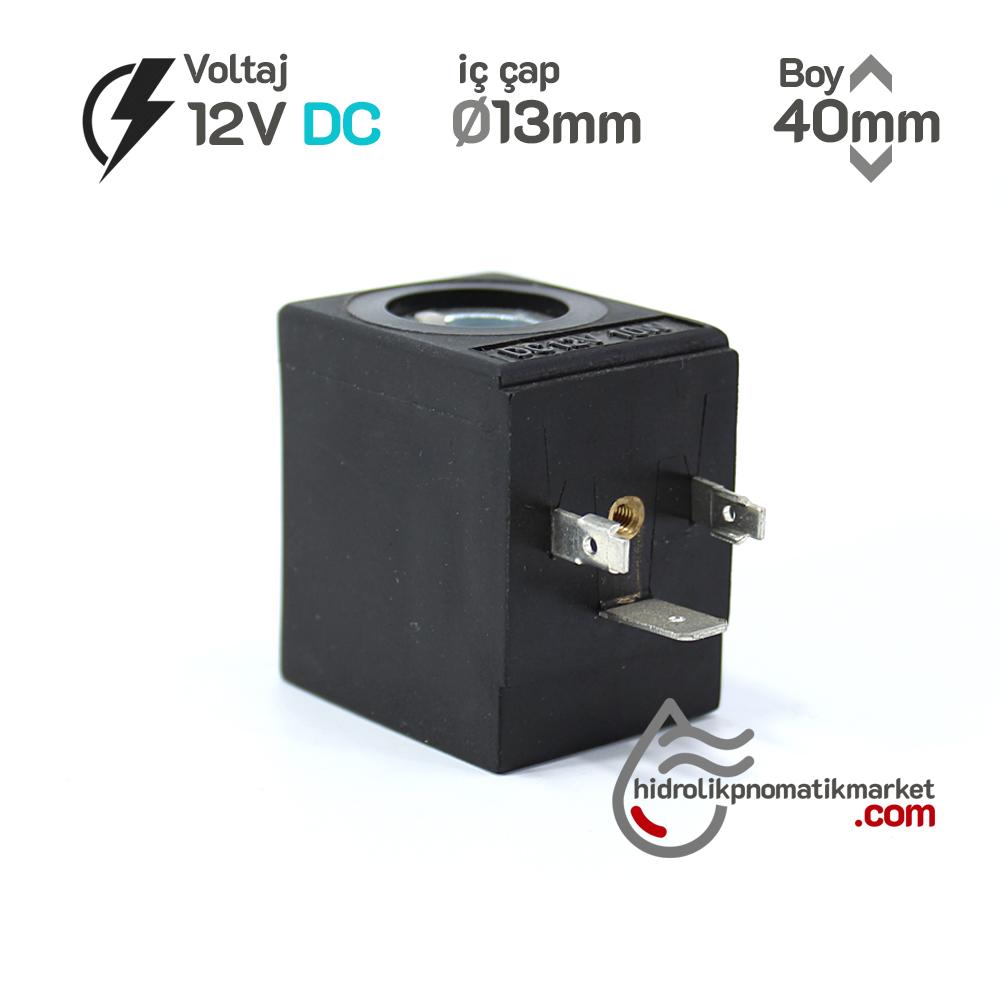 MRT 4402-1 12V DC Hidrolik Valf Bobini İç Çap 13mm x Boy 40mm - DIN 43650 evı5m/13 amısco