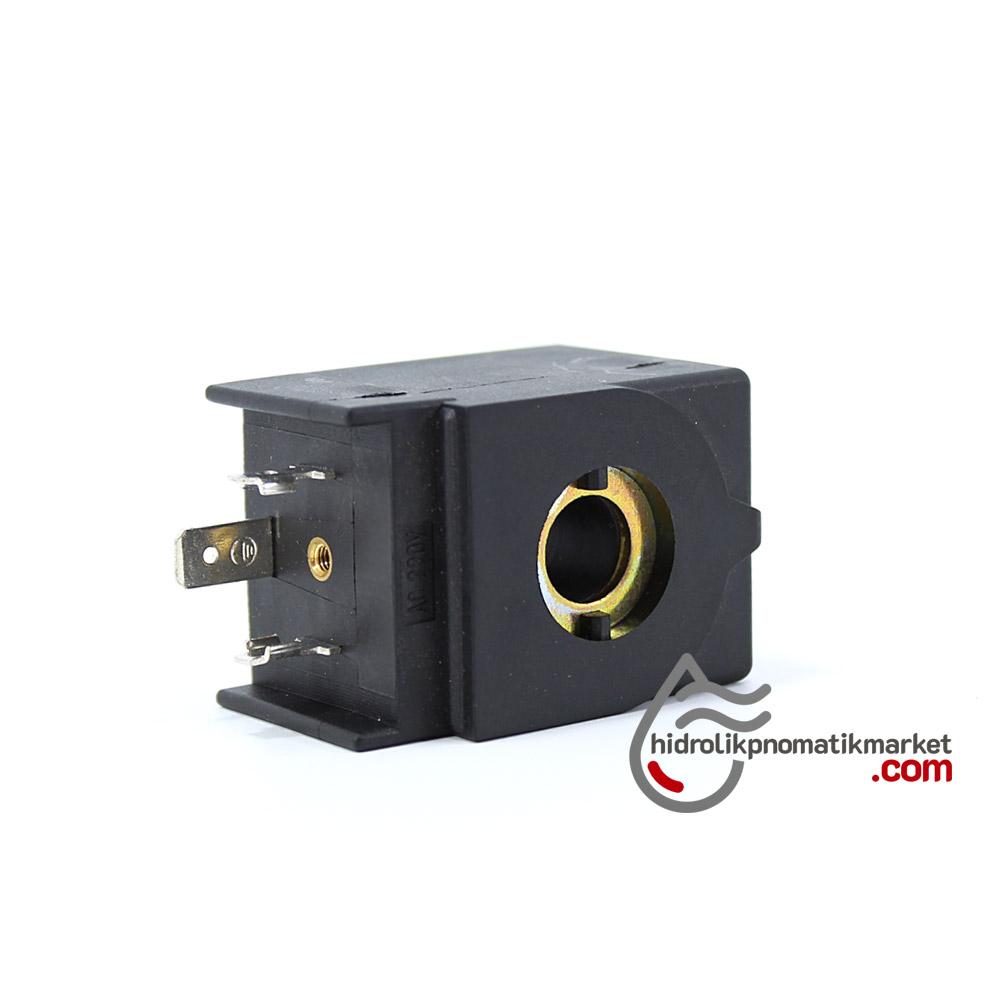 MRT4001 Pnömatik Hava Ventil Valf Bobini 220V AC İç Çap 11mm x Boy 35,5mm - DIN 43650 Soket Bobin