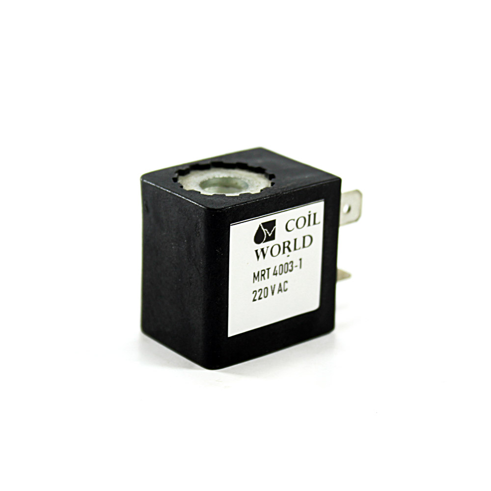 MRT4003-1 Pnömatik Valf Bobin 220V AC İç Çap 8mm x Boy 29mm - DIN 43650 Soket Bobin