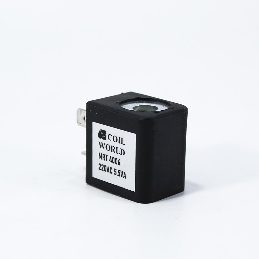MRT4006 Pnömatik Valf Bobin 220V AC İç Çap 9mm x Boy 29,5mm - DIN 43650 Soket Bobin