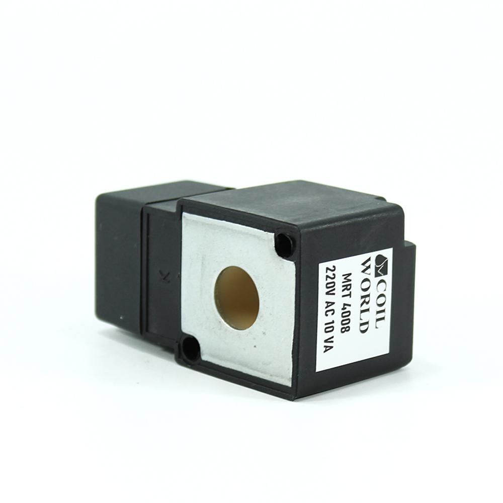 MRT4008 Pnömatik Hava Ventil Valf Bobini 220V AC İç Çap 11,5mm x Boy 32,5mm - DIN 43650 Soket Bobin