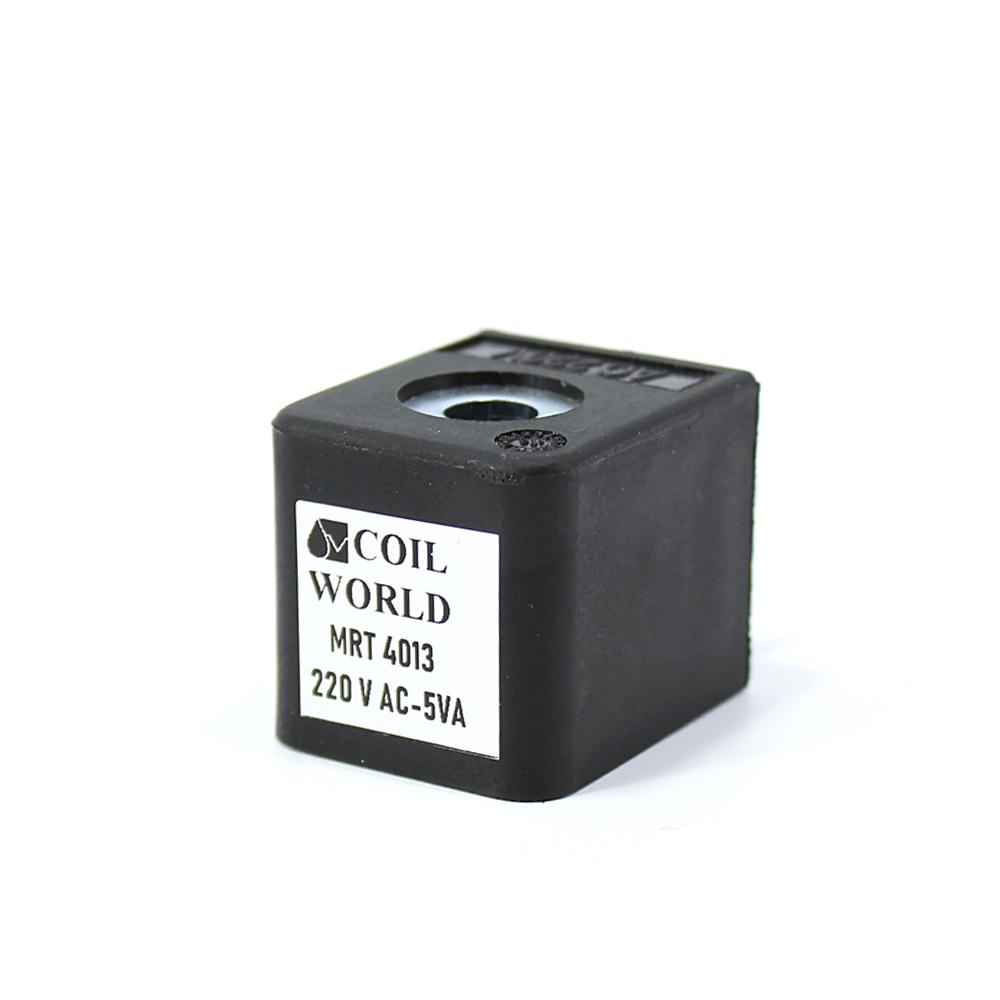 MRT4013 Pnömatik Hava Ventil Valf Bobini 220V AC İç Çap 9mm x Boy 31mm - DIN 43650 Soket Bobin