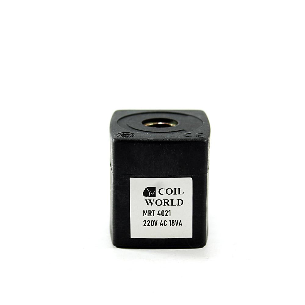 MRT4021 Pnömatik Valf Ventil Bobin 220V AC İç Çap 14,5mm x Boy 37mm - DIN 43650 Soket Bobin