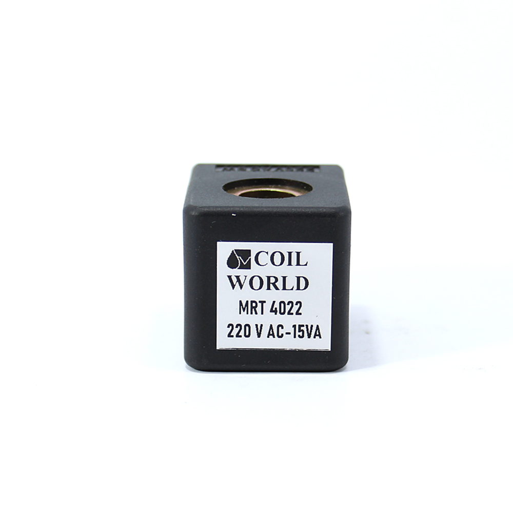 MRT4022 Pnömatik Hava Ventil Valf Bobini 220V AC İç Çap 10mm x Boy 31mm - DIN 43650 Soket Bobin