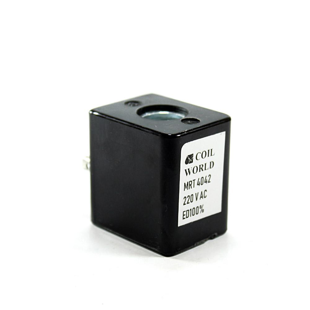 MRT4042 Pnömatik Valf Ventil Bobin 220V AC İç Çap 13,2mm x Boy 41mm - DIN 43650 Soket Bobin