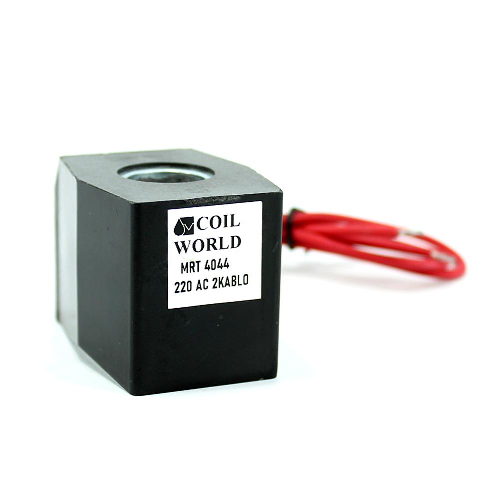 MRT4044 Pnömatik Valf Ventil Bobin 220V AC İç Çap 16mm x Boy 39mm - DIN 43650 Soket Bobin