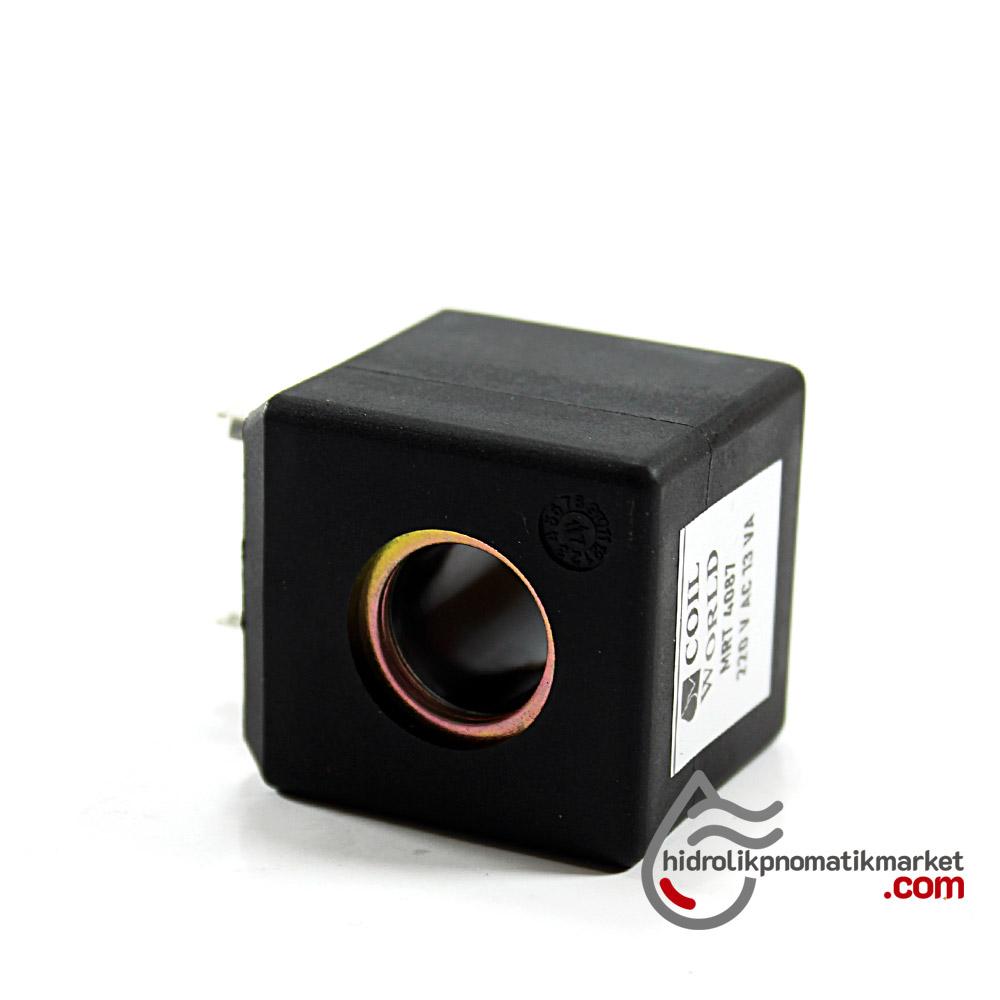 MRT4087 Pnömatik Hava Ventil Valf Bobini 220V AC İç Çap 14mm x Boy 32mm - DIN 43650 Soket Bobin
