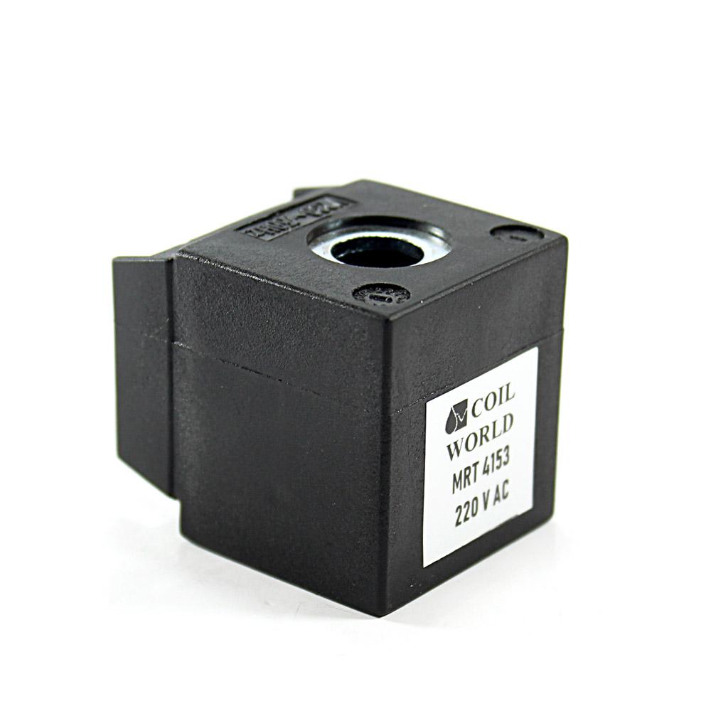 MRT4153 220V AC Pnömatik Valf Bobini İç Çap 13mm x Boy 35,5mm - DIN 43650 Soket Bobin