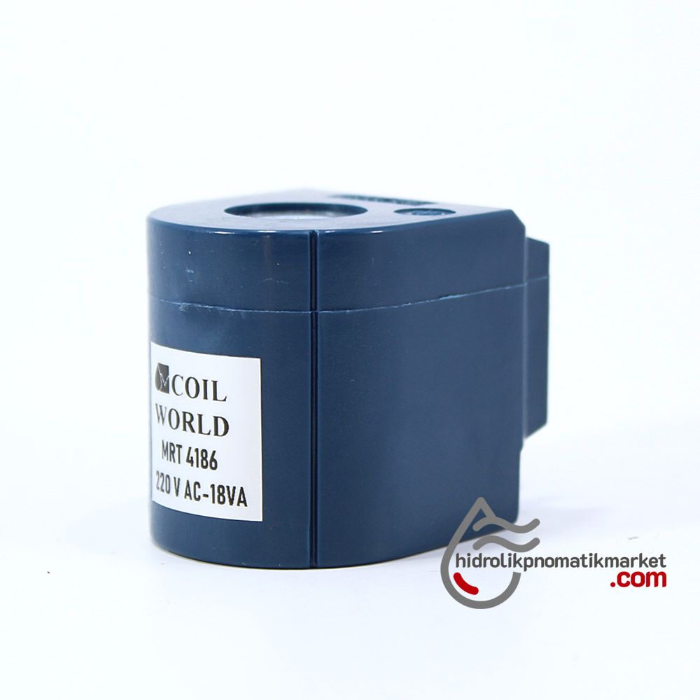 MRT4186 Pnömatik Hava Ventil Valf Bobini 220V AC İç Çap 16,7mm x Boy 42,3mm - DIN 43650 Soket Bobin