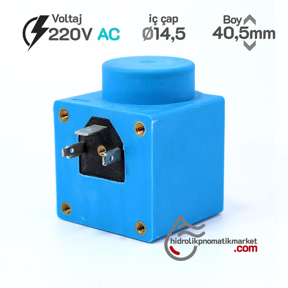 MRT 4298 220V AC Hidrolik Valf Bobini İç Çap 15mm x Boy 45,5mm - DIN 43650 danfos