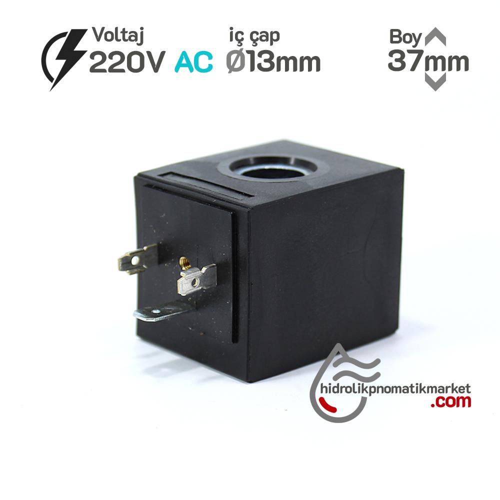 MRT 4402 220V AC Hidrolik Valf Bobini İç Çap 13mm x Boy 37mm - DIN 43650 EVI5P/13 amısco bobin
