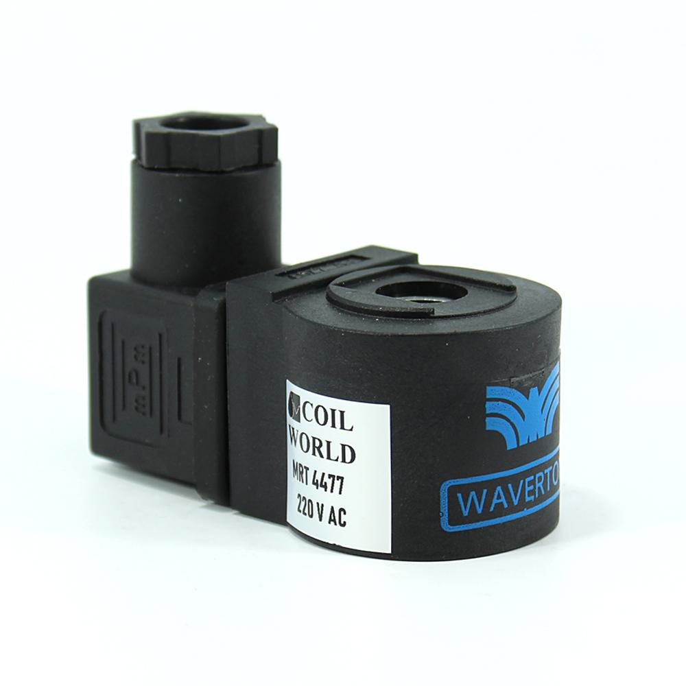 MRT4477 Pnömatik Valf Bobin 220V AC İç Çap 10mm x Boy 32mm - DIN 43650 Soket Bobin Waverton