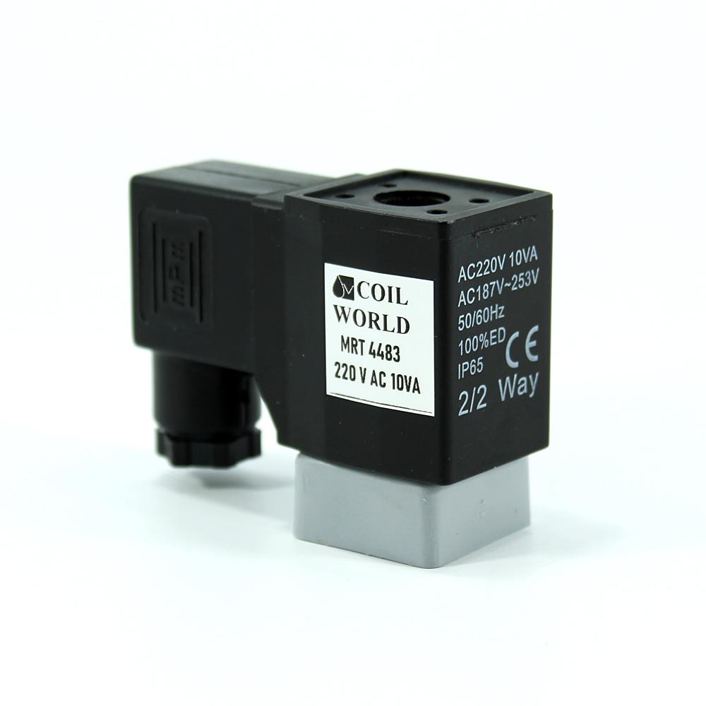 MRT4483 Pnömatik Valf Bobin 220V AC İç Çap 11mm x Boy 40mm - DIN 43650 Soket Bobin