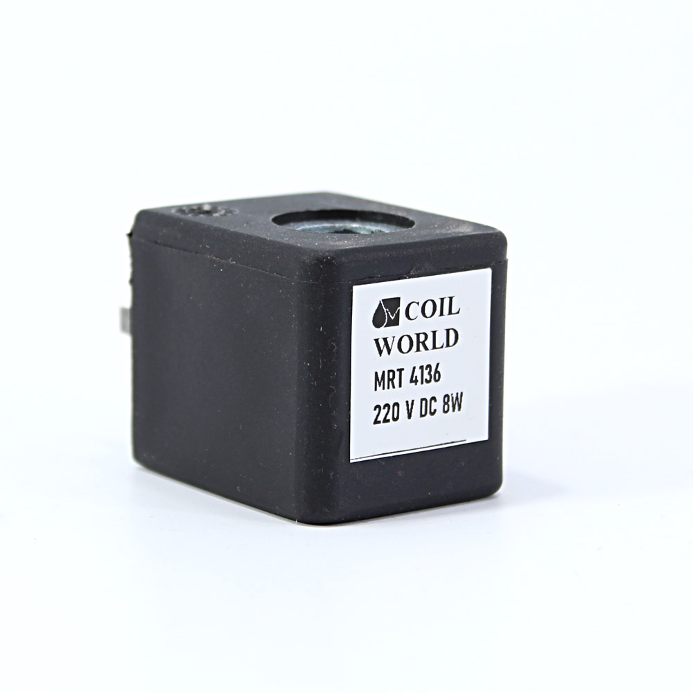 MRT4136 Pnömatik Valf Bobin 220V DC İç Çap 10mm x Boy 30mm - DIN 43650 Soket Bobin