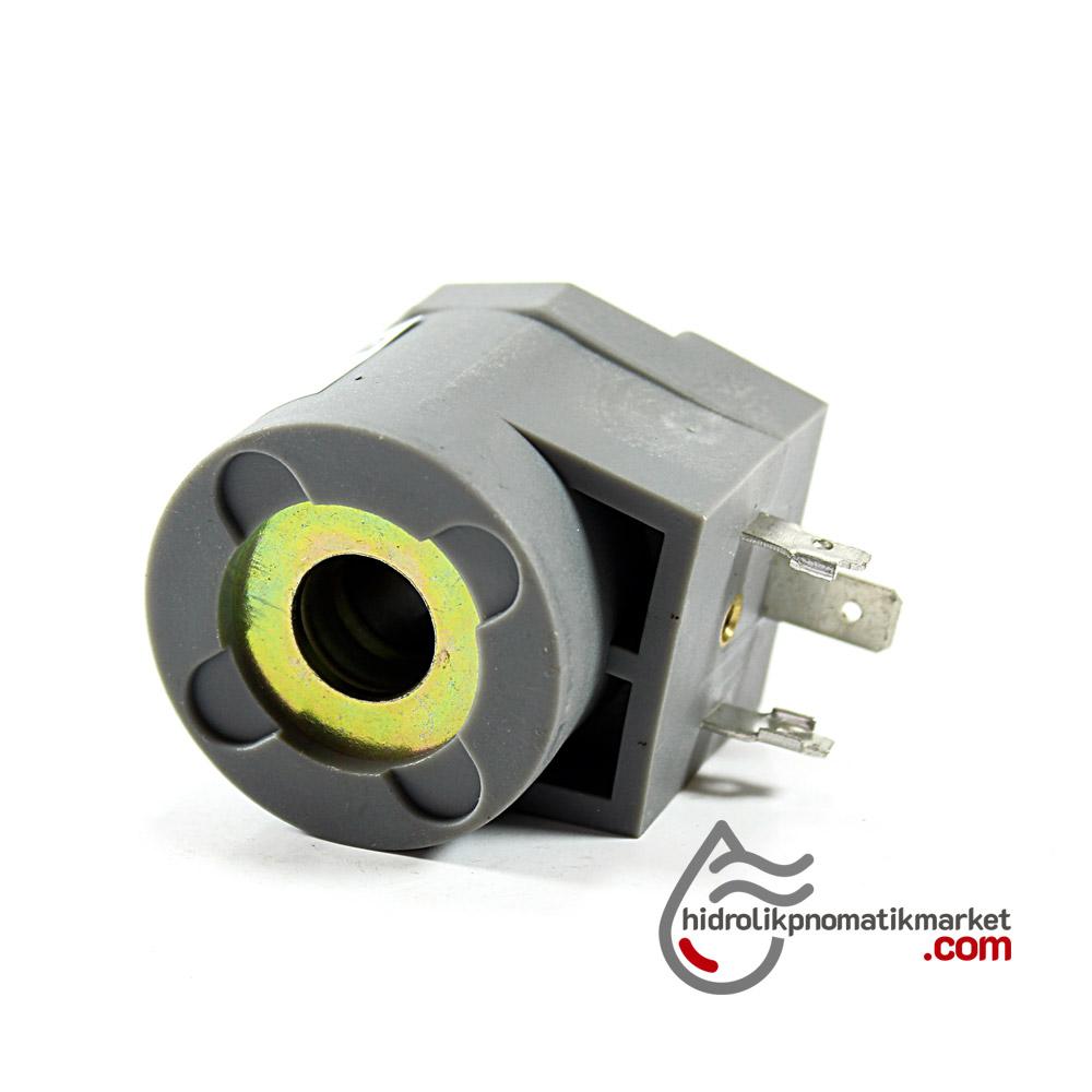 MRT4011 Pnömatik Valf Ventil Bobin 24V AC İç Çap 12,5mm x Boy 40mm - DIN 43650 Soket Bobin