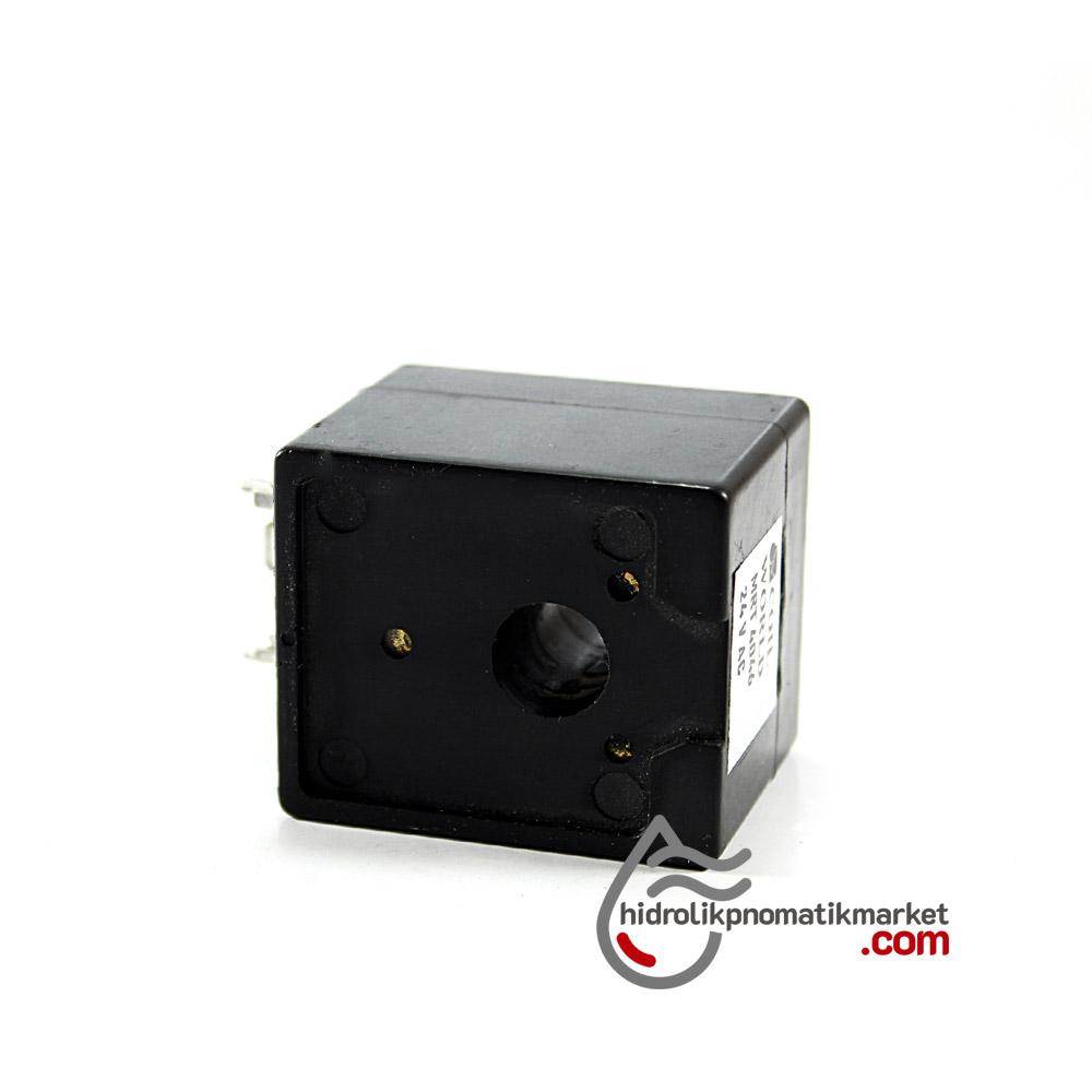 MRT4046 Pnömatik Valf Ventil Bobin 24V AC İç Çap 11mm x Boy 36mm - DIN 43650 Soket Bobin