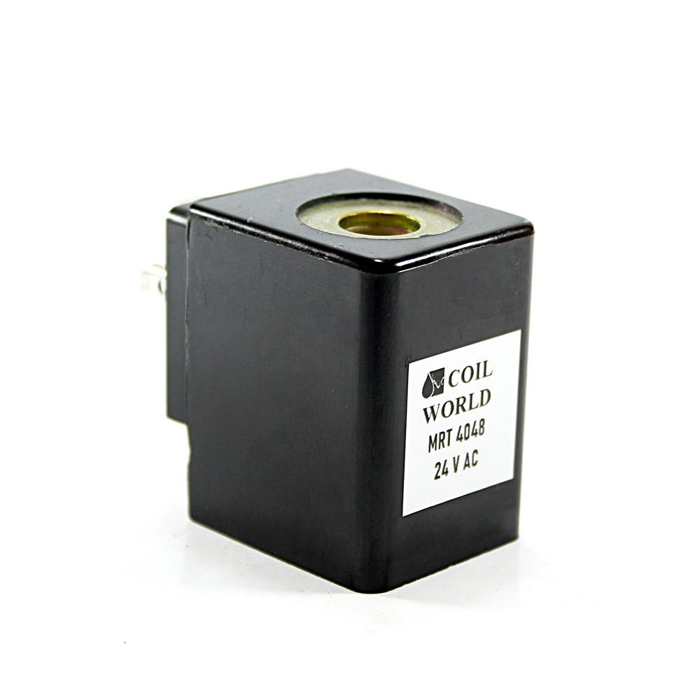 MRT 4048 Pnömatik Valf Ventil Bobin 24V AC İç Çap 14,5mm x Boy 42mm - DIN 43650 Soket Bobin