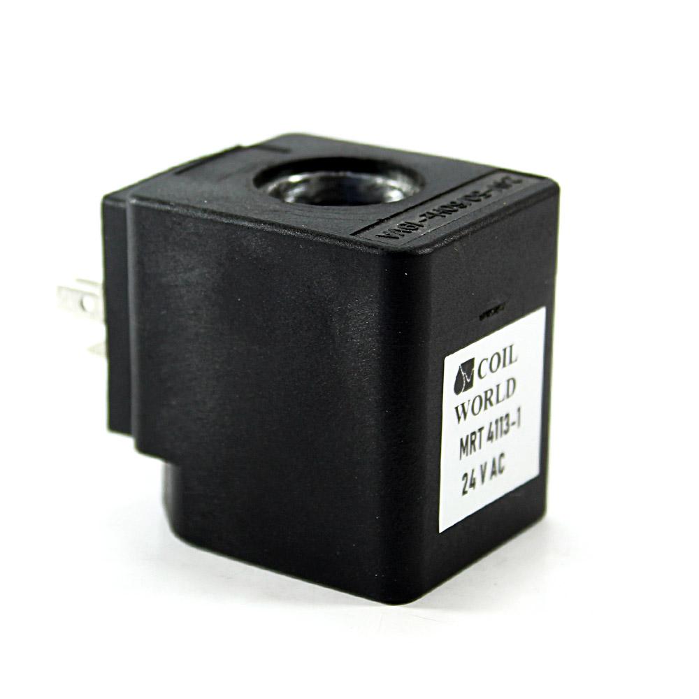 MRT4113-1 Pnömatik Hava Ventil Valf Bobini 24V AC İç Çap 15x15mm x Boy 39mm - DIN 43650 Soket Bobin
