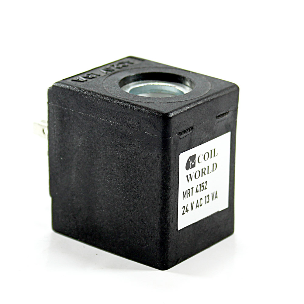 MRT 4152 24V AC Pnömatik Valf Bobini İç Çap 13mm x Boy 40mm - DIN 43650 Soket Bobin