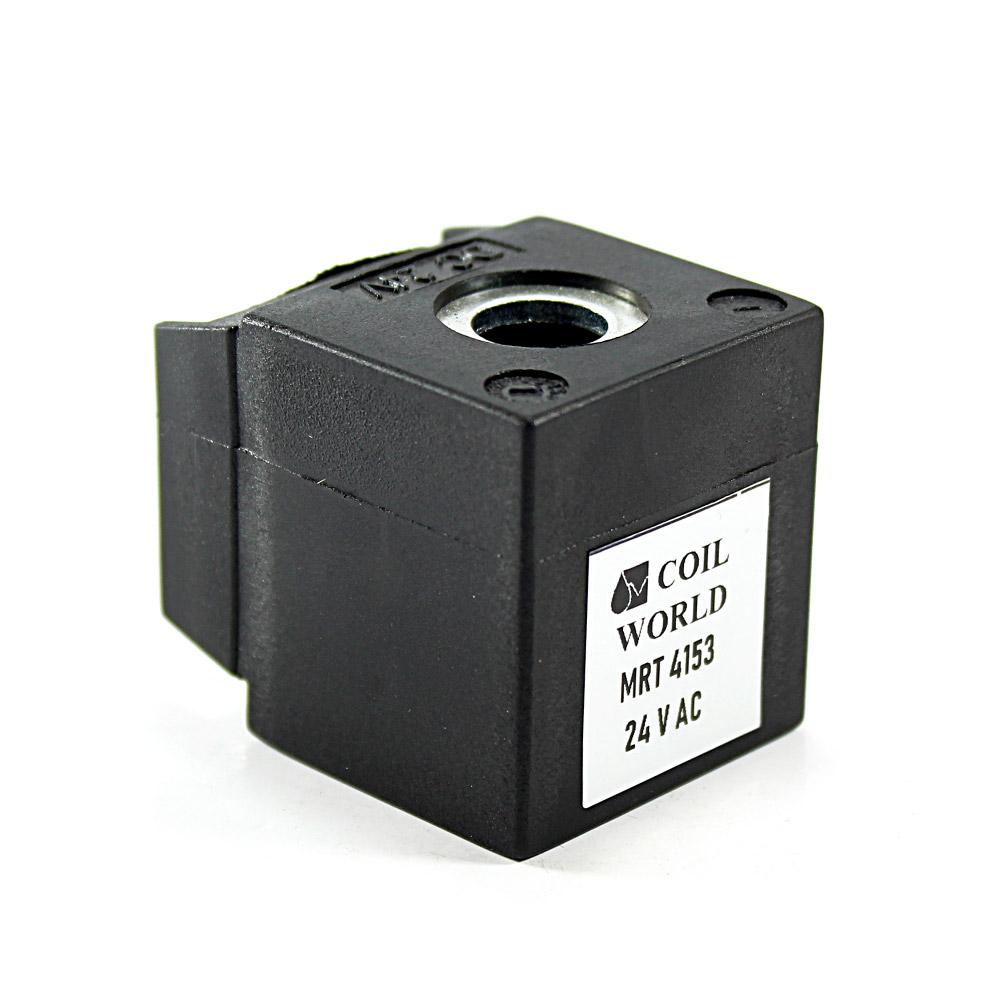 MRT4153 24V AC Pnömatik Valf Bobini İç Çap 13mm x Boy 35,5mm - DIN 43650 Soket Bobin