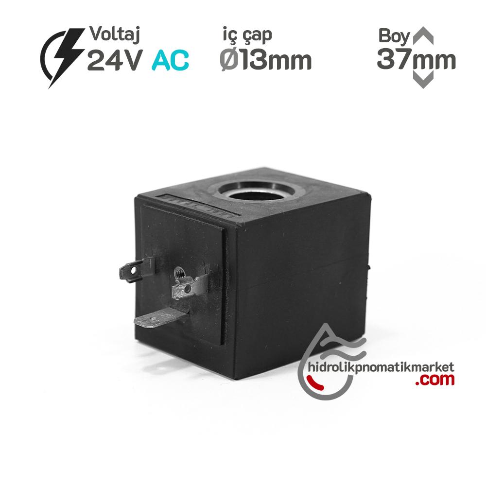 MRT 4402 24V AC Hidrolik Valf Bobini İç Çap 13mm x Boy 37mm - Soketli evı5m/13 amısco  19VA