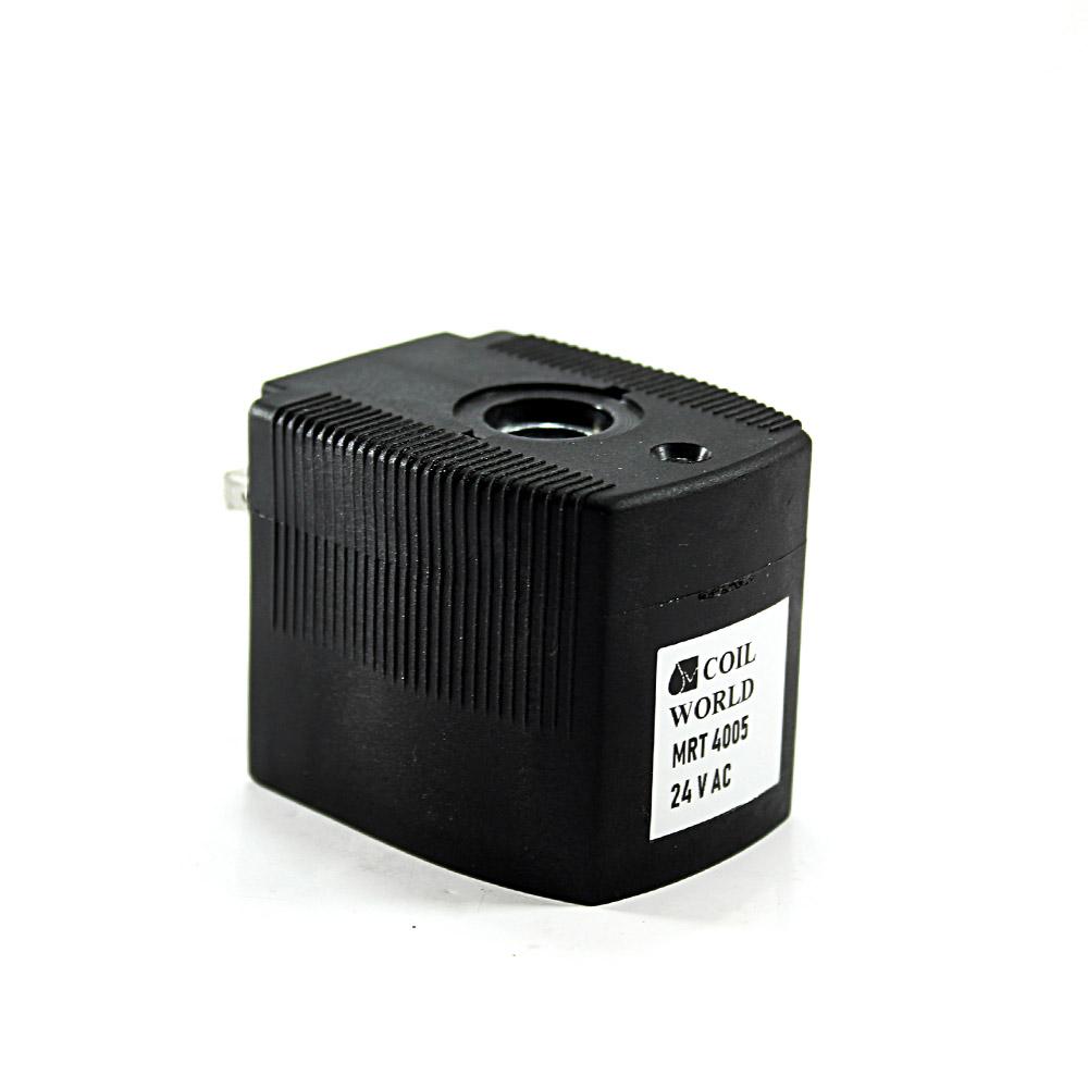 MRT4005 Pnömatik Valf Bobin 24V AC İç Çap 12mm x Boy 40,5mm - DIN 43650 Soket Bobin