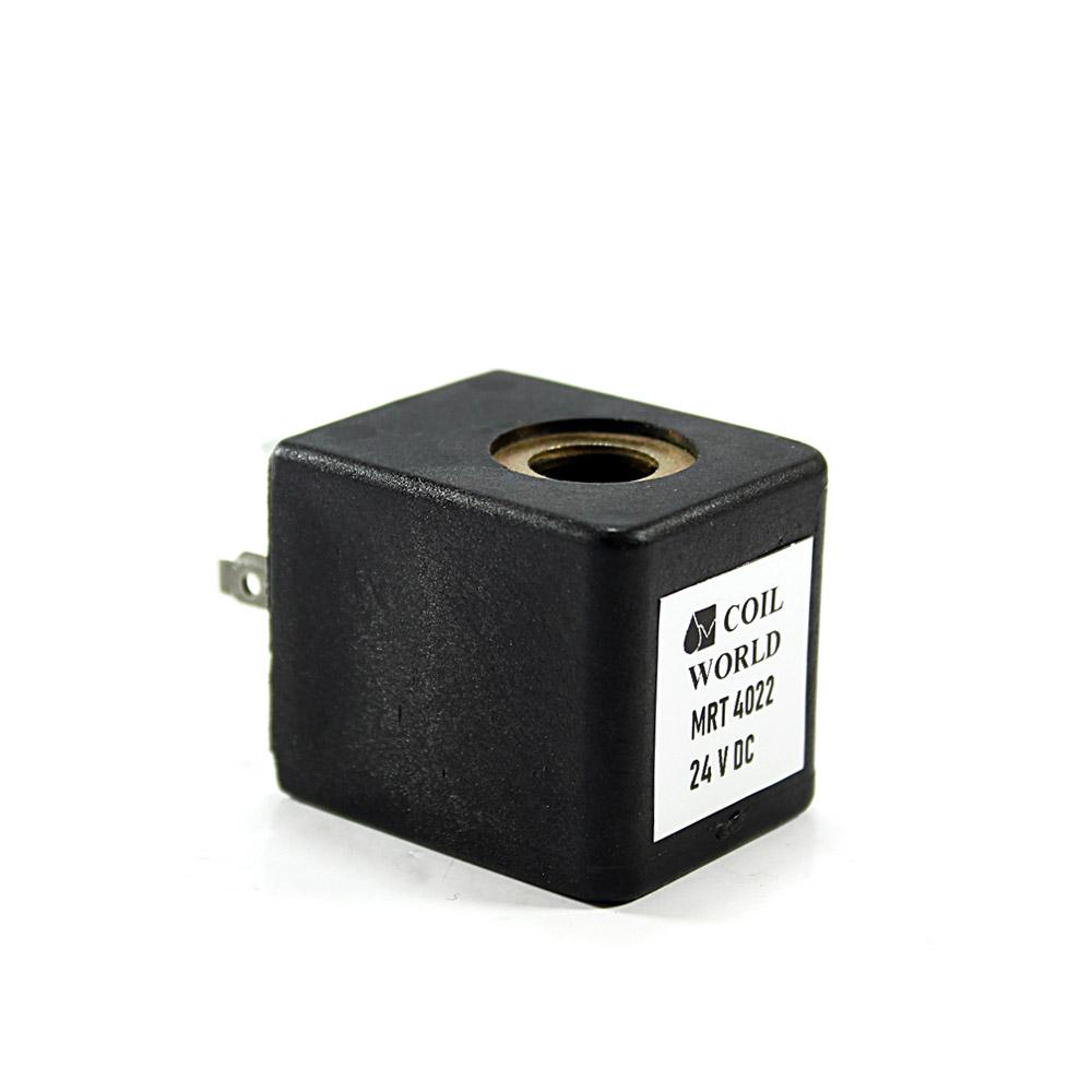 MRT4022 Pnömatik Valf Ventil Bobin 24V DC İç Çap 10mm x Boy 31mm - DIN 43650 Soket Bobin