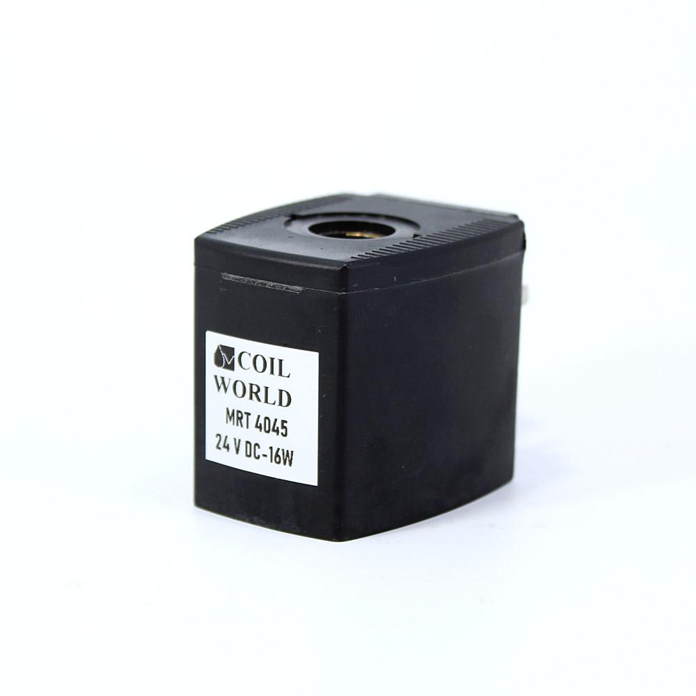MRT4045 Pnömatik Valf Bobin 24V DC İç Çap 14,5mm x Boy 40,5mm - DIN 43650 Soket Bobin