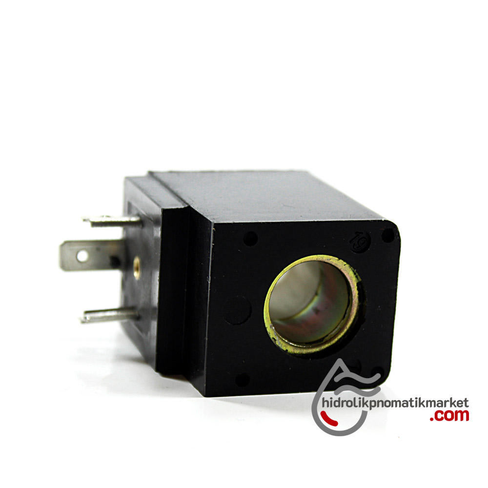 MRT 4048 Pnömatik Valf Ventil Bobin 24V DC İç Çap 14,5mm x Boy 42mm - DIN 43650 Soket Bobin
