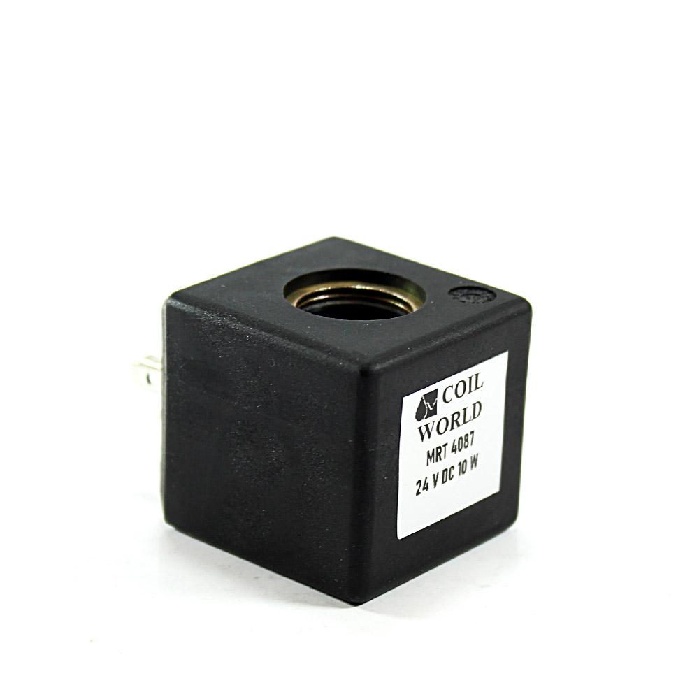 MRT4087 Pnömatik Hava Ventil Valf Bobini 24V DC İç Çap 14mm x Boy 32mm - DIN 43650 Soket Bobin