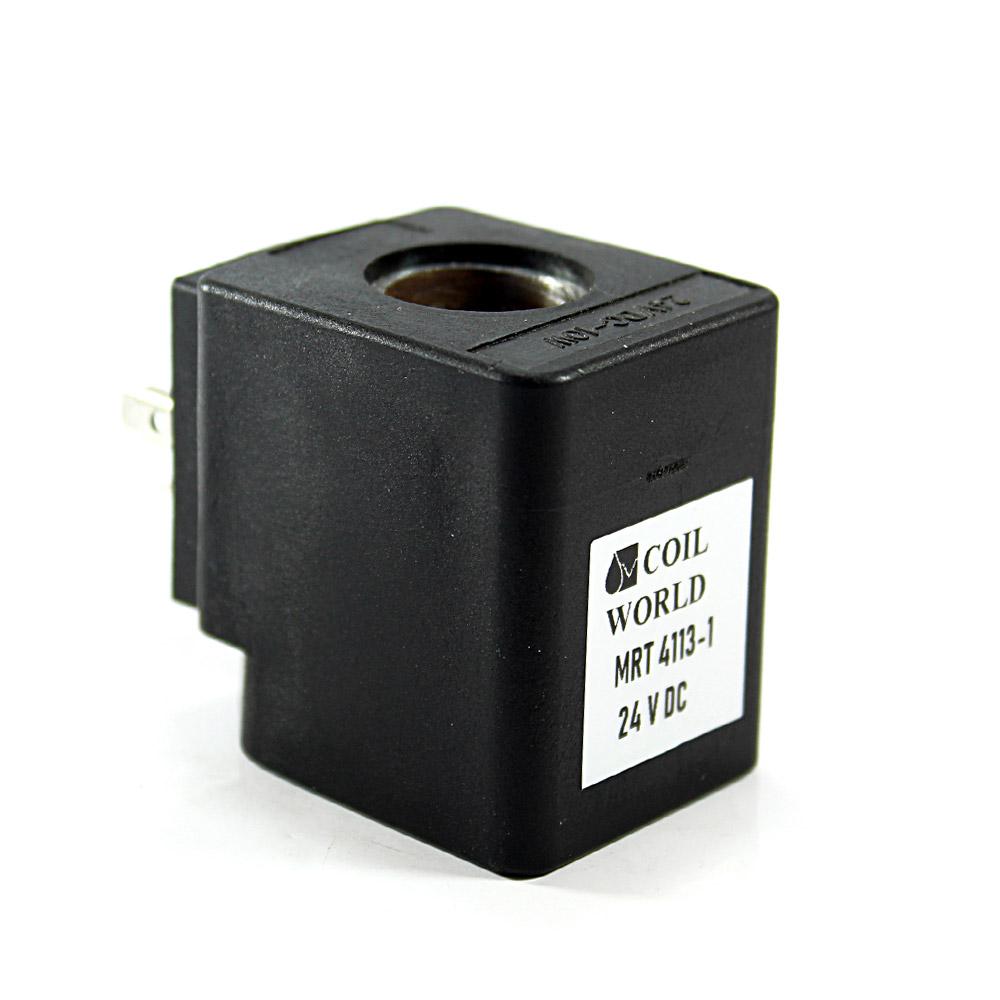 MRT4113-1 Pnömatik Hava Ventil Valf Bobini 24V DC İç Çap 15x15mm x Boy 39mm - DIN 43650 Soket Bobin