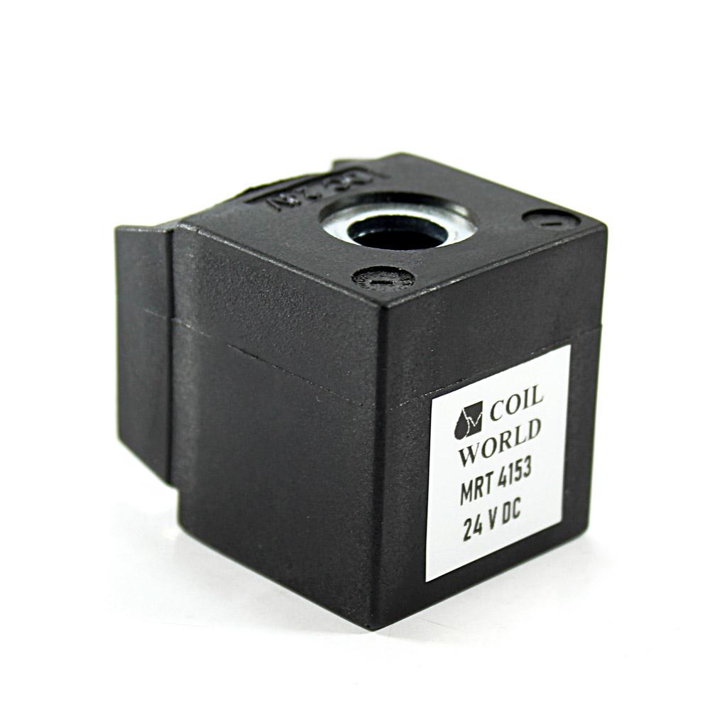 MRT4153 24V DC Pnömatik Valf Bobini İç Çap 13mm x Boy 35,5mm - DIN 43650 Soket Bobin