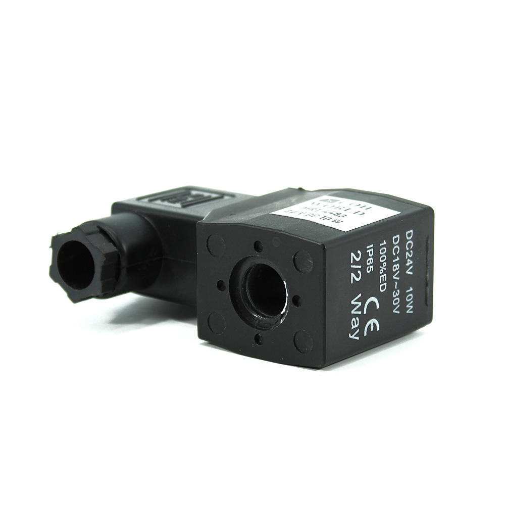 MRT4483 Pnömatik Hava Ventil Valf Bobini 24V DC İç Çap 11mm x Boy 40mm - DIN 43650 Soket Bobin