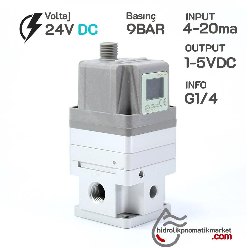 MRT 7600  9BAR,DC24V,İNPUT 4-20MA-OUTPUT 1-5VDC G1/4