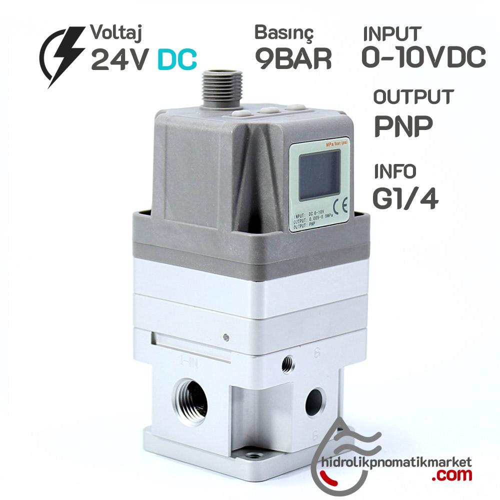 MRT-76039BAR,DC24V İNPUT 0-10VDC OUTPUT PNP G1/4 pneumax