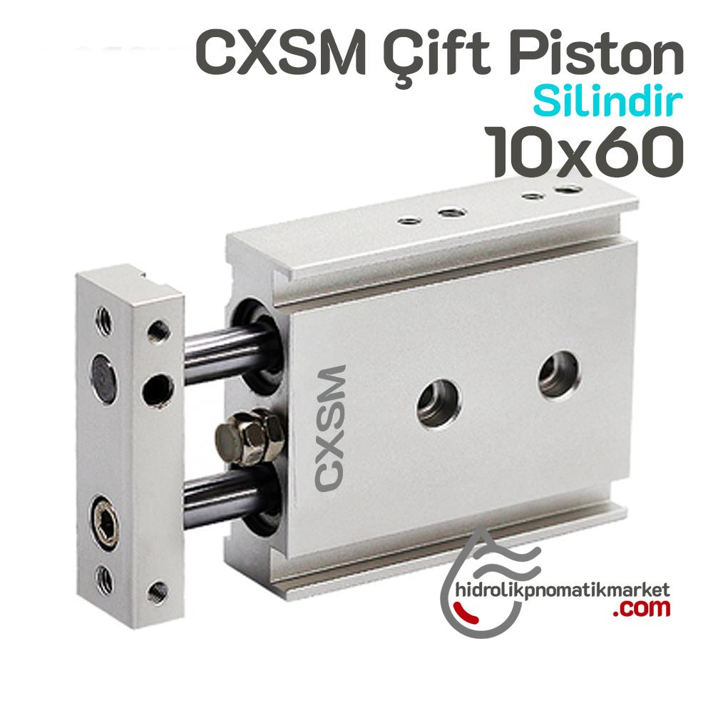 CSMX 10x60 Çift Piston Pnömatik Silindir - Maske Makinesi Yedek Parça