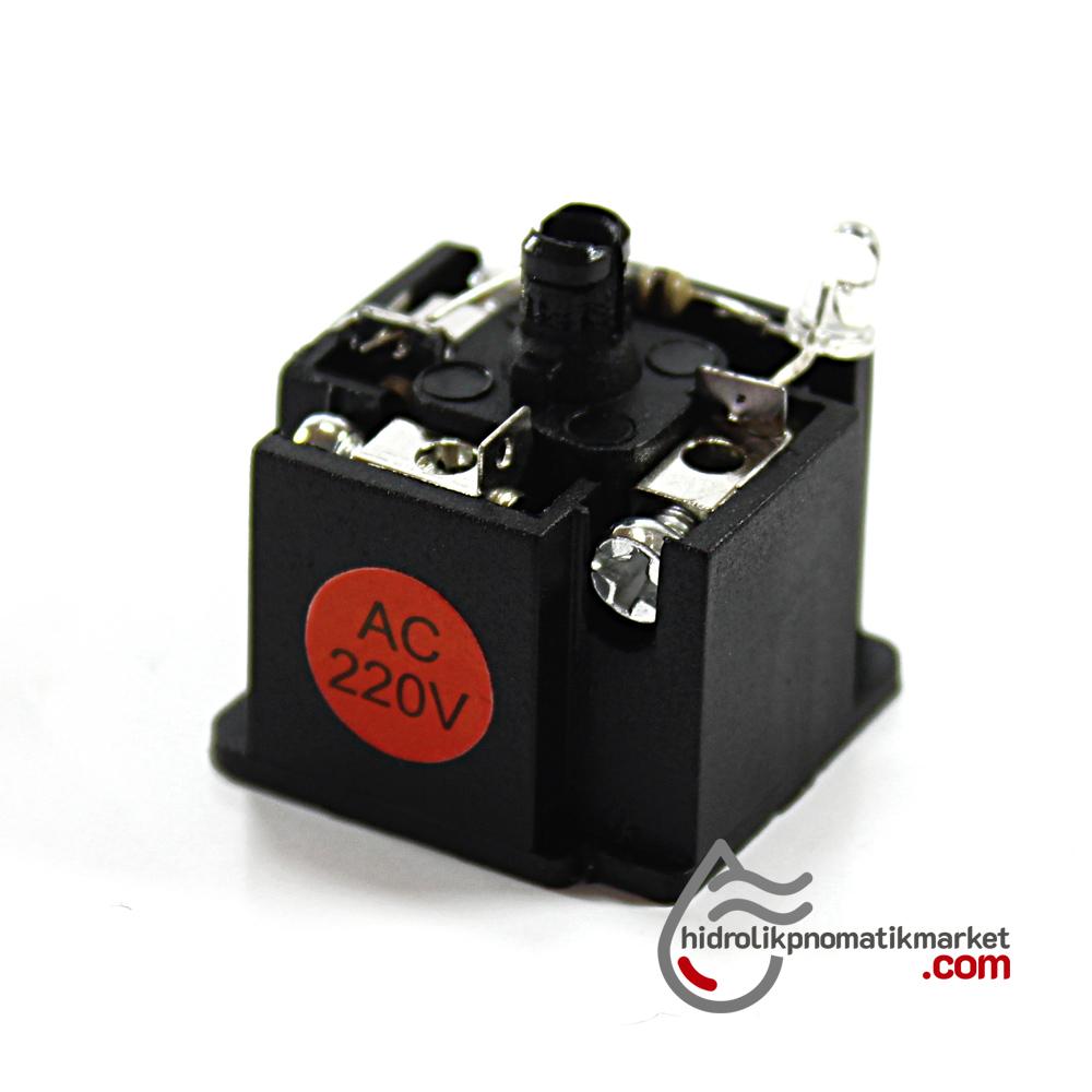 Coil World 110V AC-220V AC Bobin ve Valf Enerji Bağlantı Soketi Ledli DIN 43650 Geniş Tip Mrt 9001