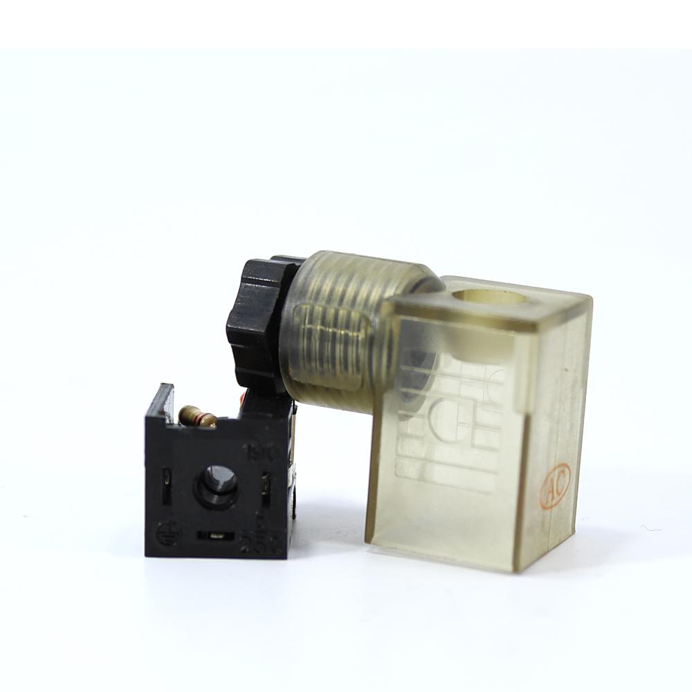 110-220V AC Pnömatik Bobin ve Valf Enerji Bağlantı Soketi Ledli DIN 43650 Dar Tip Mrt 9003