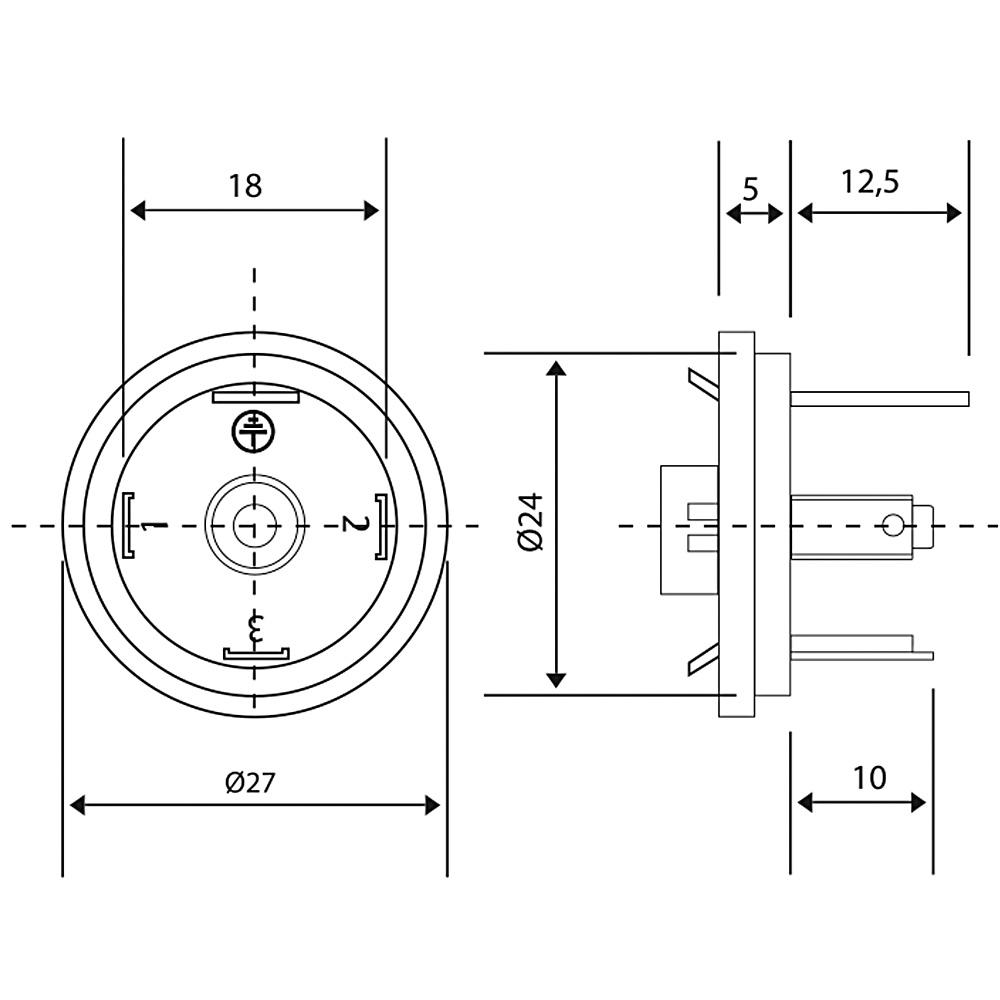 Bobin Soketi AR02 AR03 Bobin Bağlantı Soketi Baza (Bases) 4pimli Geniş Tip DIN43650