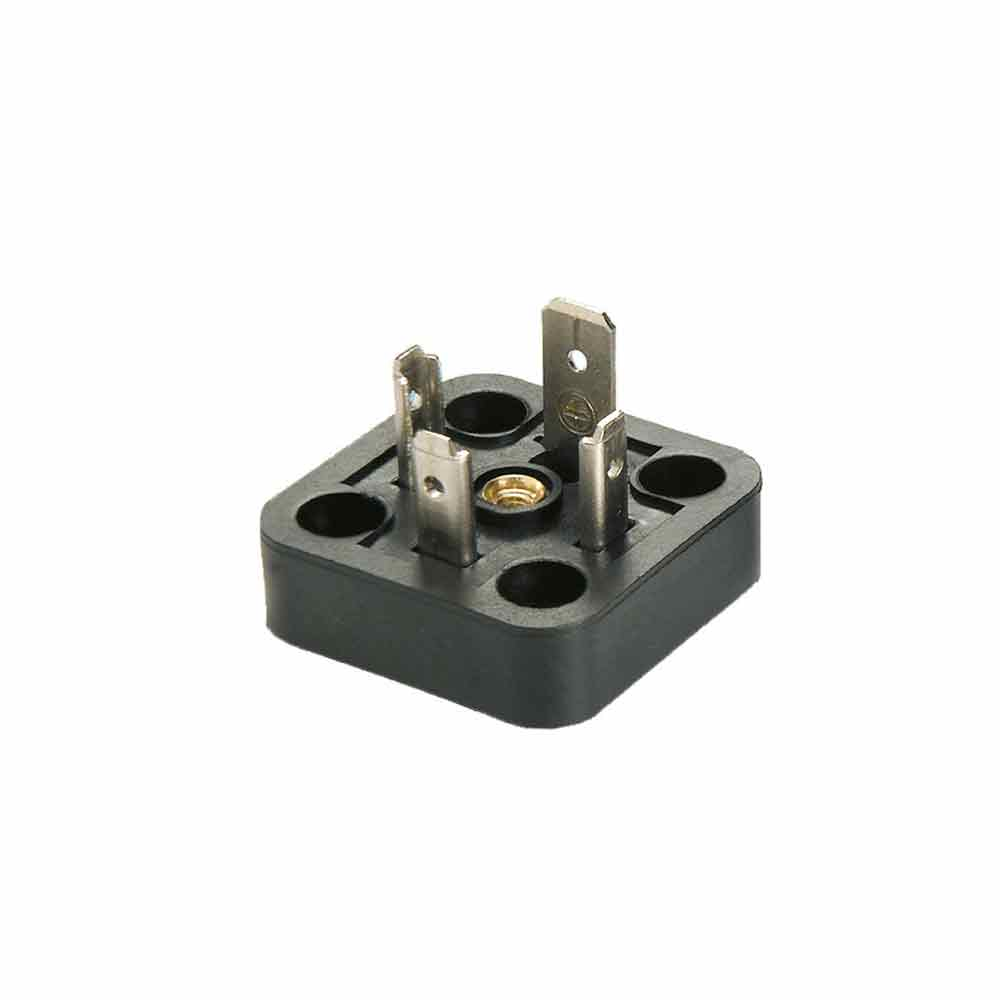 Bobin Soketi AV02 - AV03 Bobin Bağlantı Soketi Baza Bases 4pimli Geniş Tip DIN43650