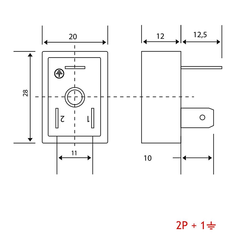 B02 Bobin Soketi AC-DC Bobin Bağlantı Soketi Baza Bases 3pimli Geniş Tip DIN43650 Mrt 9009