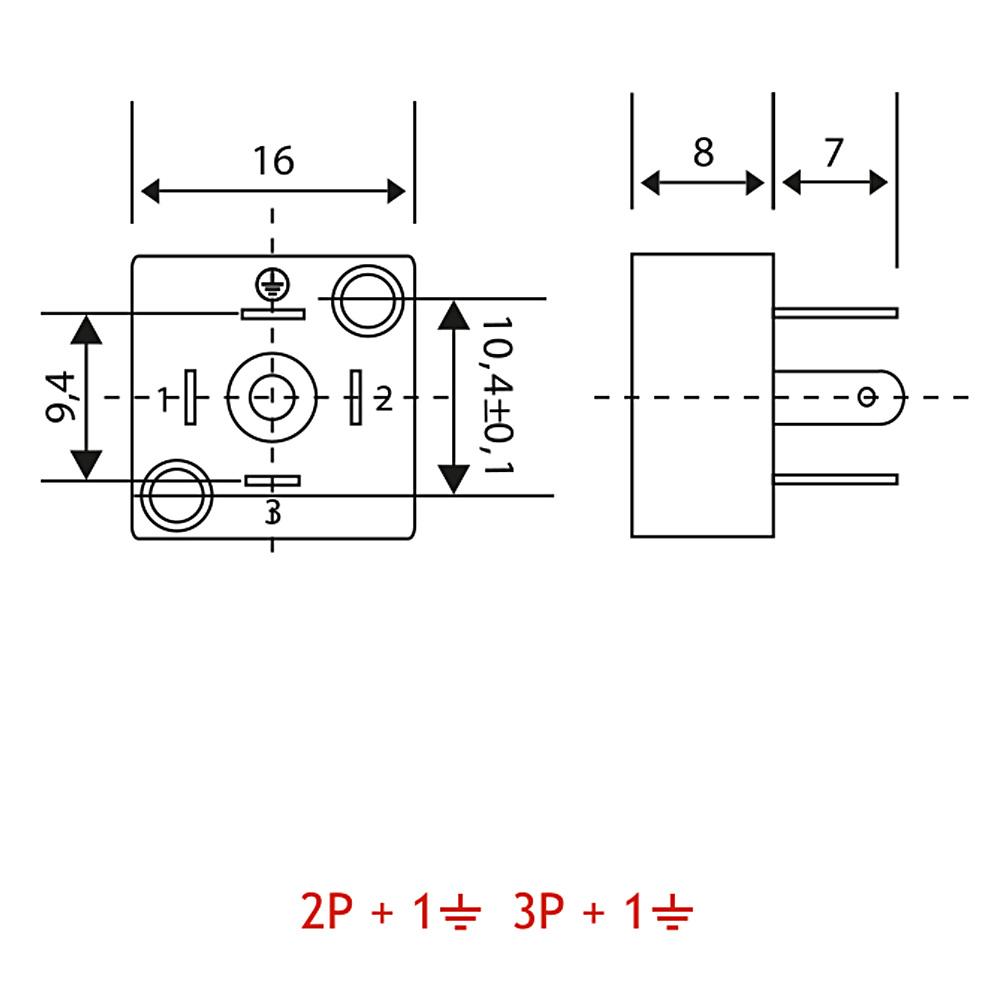 Bobin Soketi C02 C03 Bobin Bağlantı Soketi Baza (Bases) 4pimli Dar Tip DIN43650