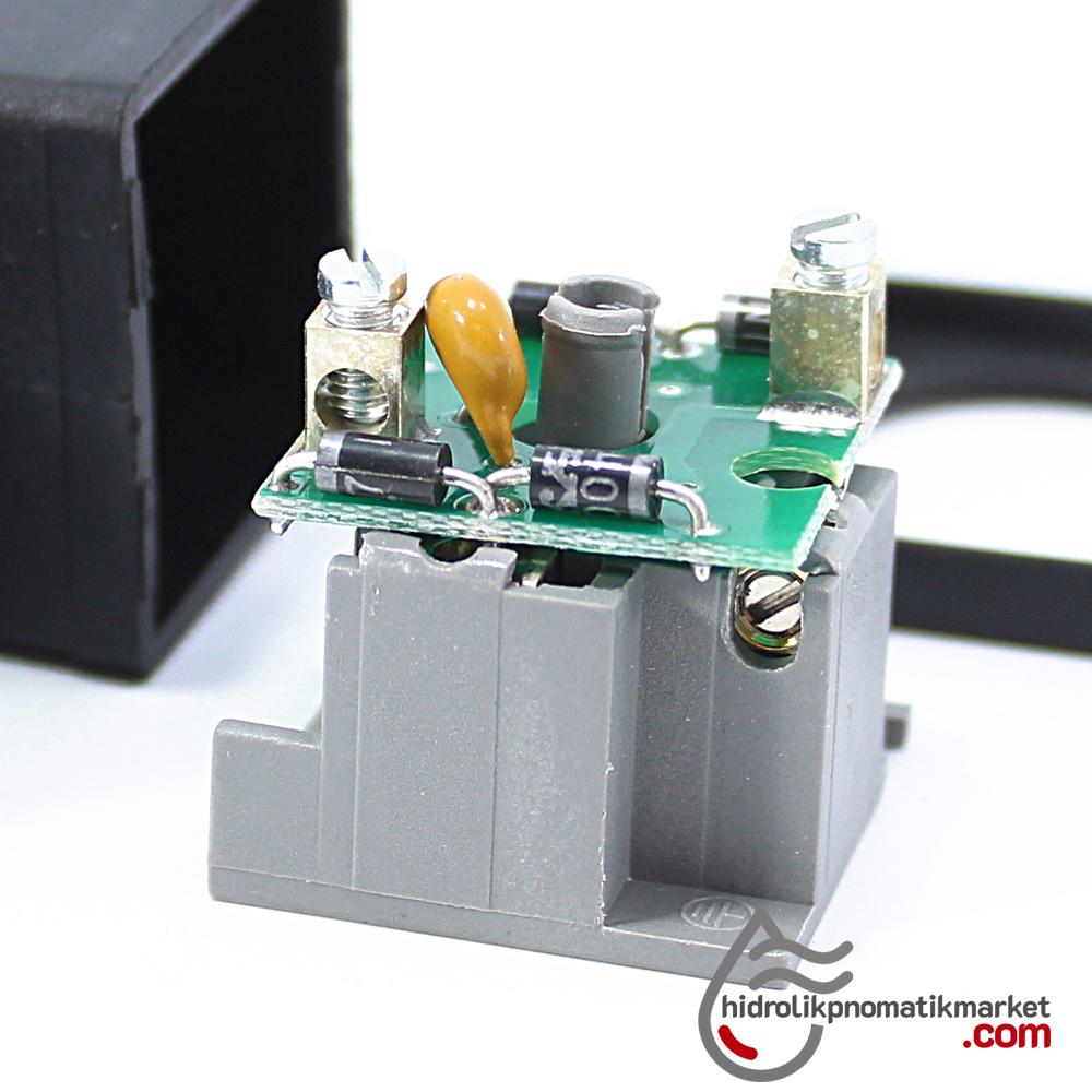 Coil World 220V RAC Hidrolik ve Pnömatik Bobin Enerji Bağlantı Soketi MRT9005 IŞIKSIZ