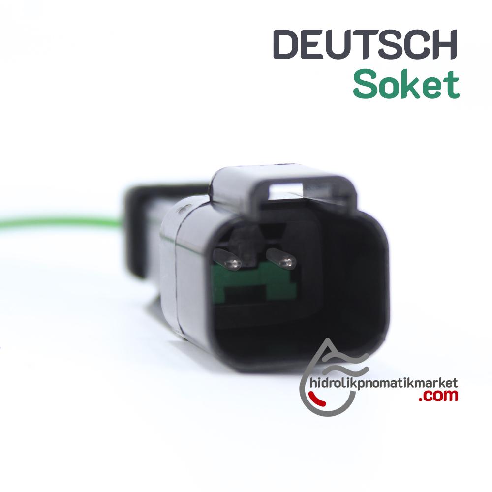 DEUTSCH Soket - Hidrolik Bobin Bağlantı Soketi Coilworld Mrt 9007E
