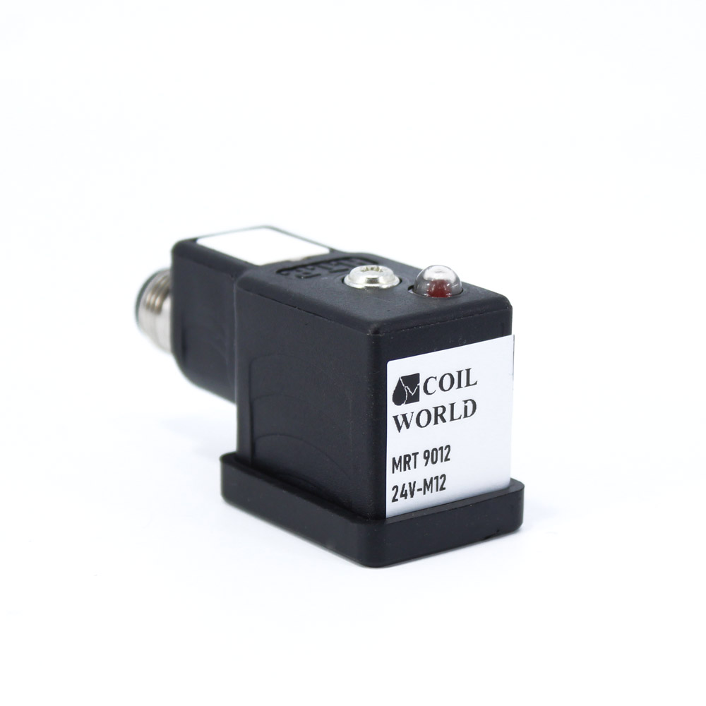 Coil World 24V M12 3Pinli Soket Dönüştürücü Mrt 9012 Ledli
